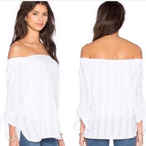 Bailey 44 White New Yarrow Off the Shoulder Top